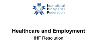Healthcare and employment