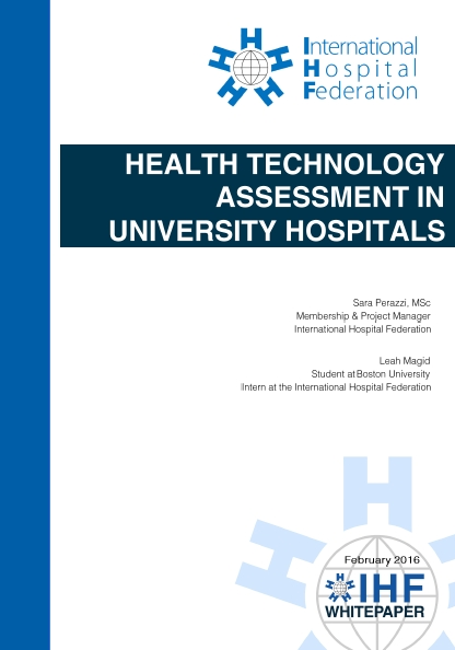 Health Technology Assessment in University Hospitals