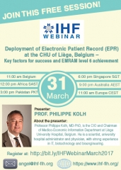 Deployment of Electronic Patient Record (EPR) at the CHU of Liège, Belgium – Key factors for success and EMRAM level 6 achievement