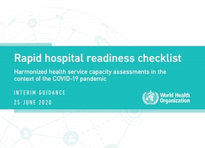 WHO Rapid hospital readiness checklist: Interim Guidance